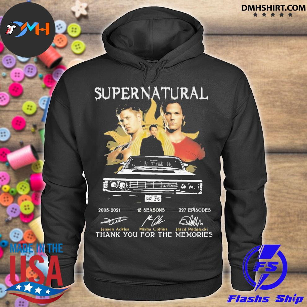 Official supernatural 20005 25 seasons 327 episodes thank you for the memories hoodie