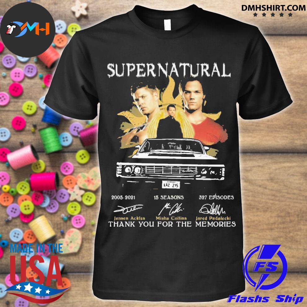 Official supernatural 20005 25 seasons 327 episodes thank you for the memories shirt