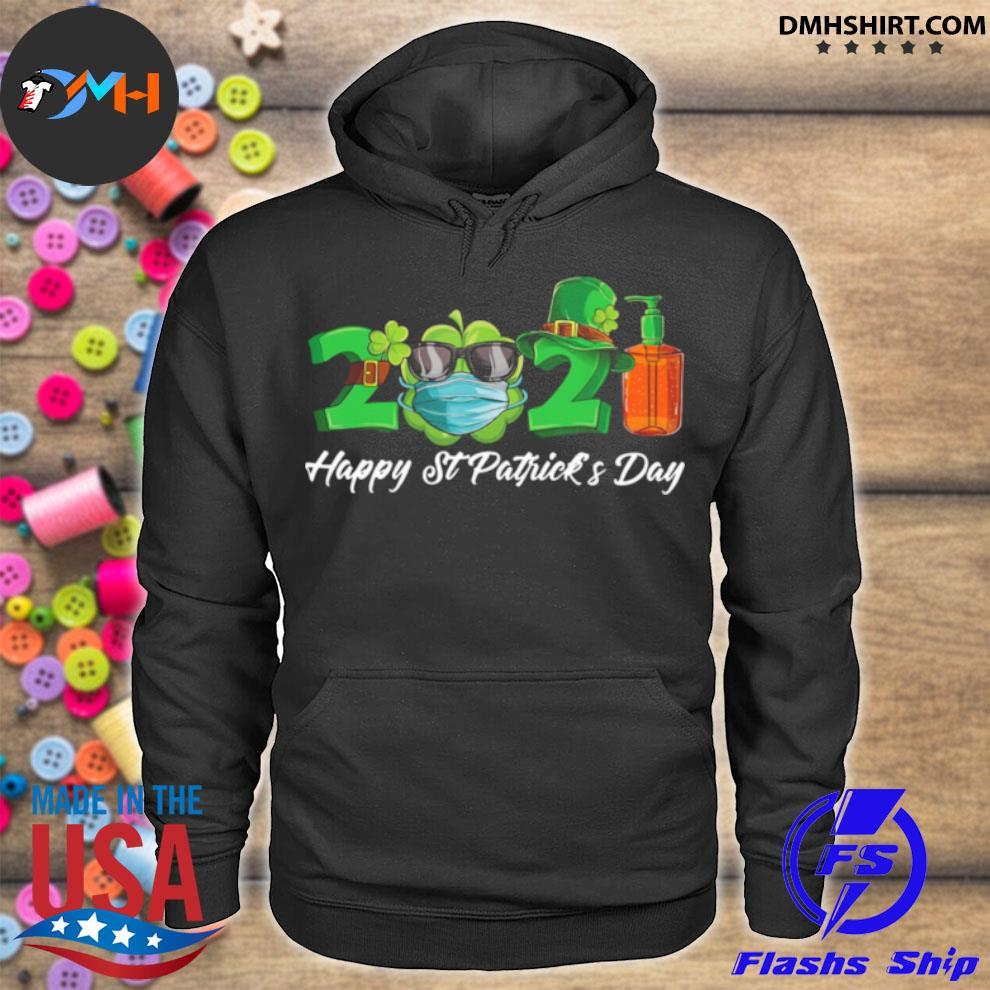 Official 2021 shamrock face mask happy st patrick's day hoodie