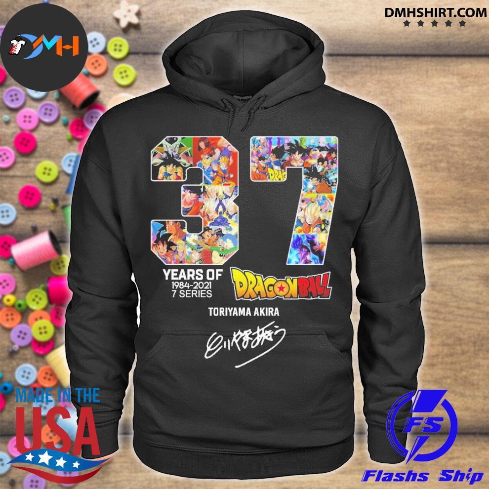 Official 27 years of 1984 2021 7 series dragon ball toriyama akira hoodie