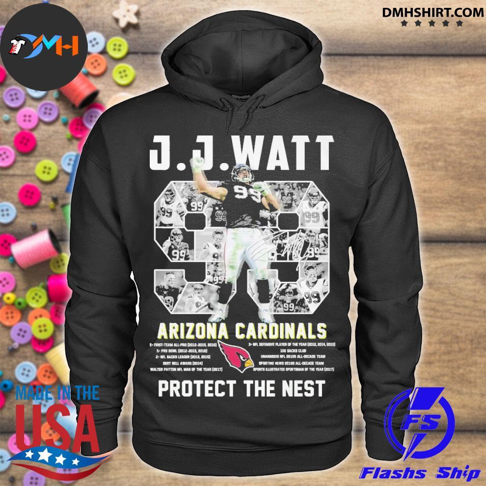 Official 99 jj watt arizona cardinals protect the nest hoodie