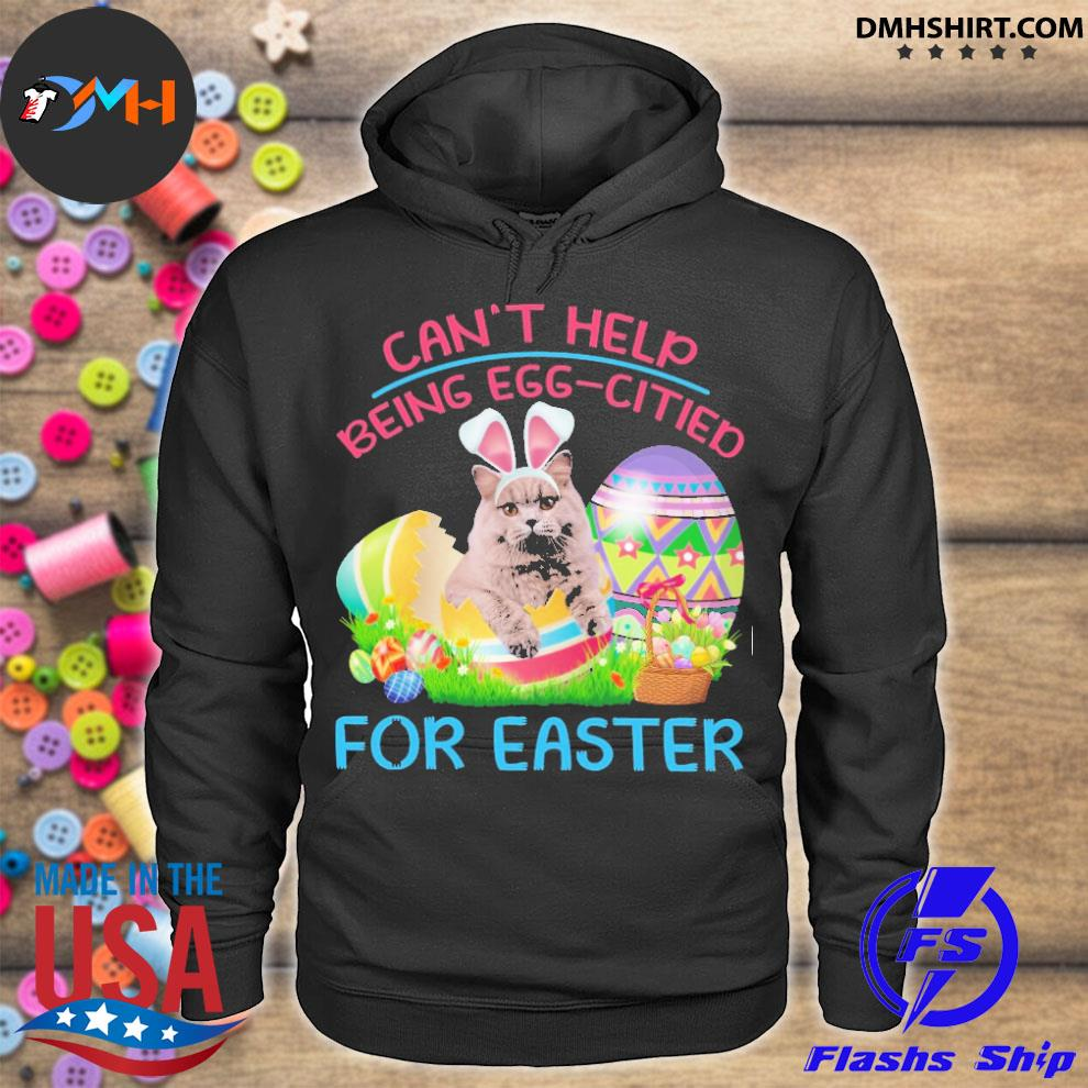 Official can't help being eggcited for easter hoodie