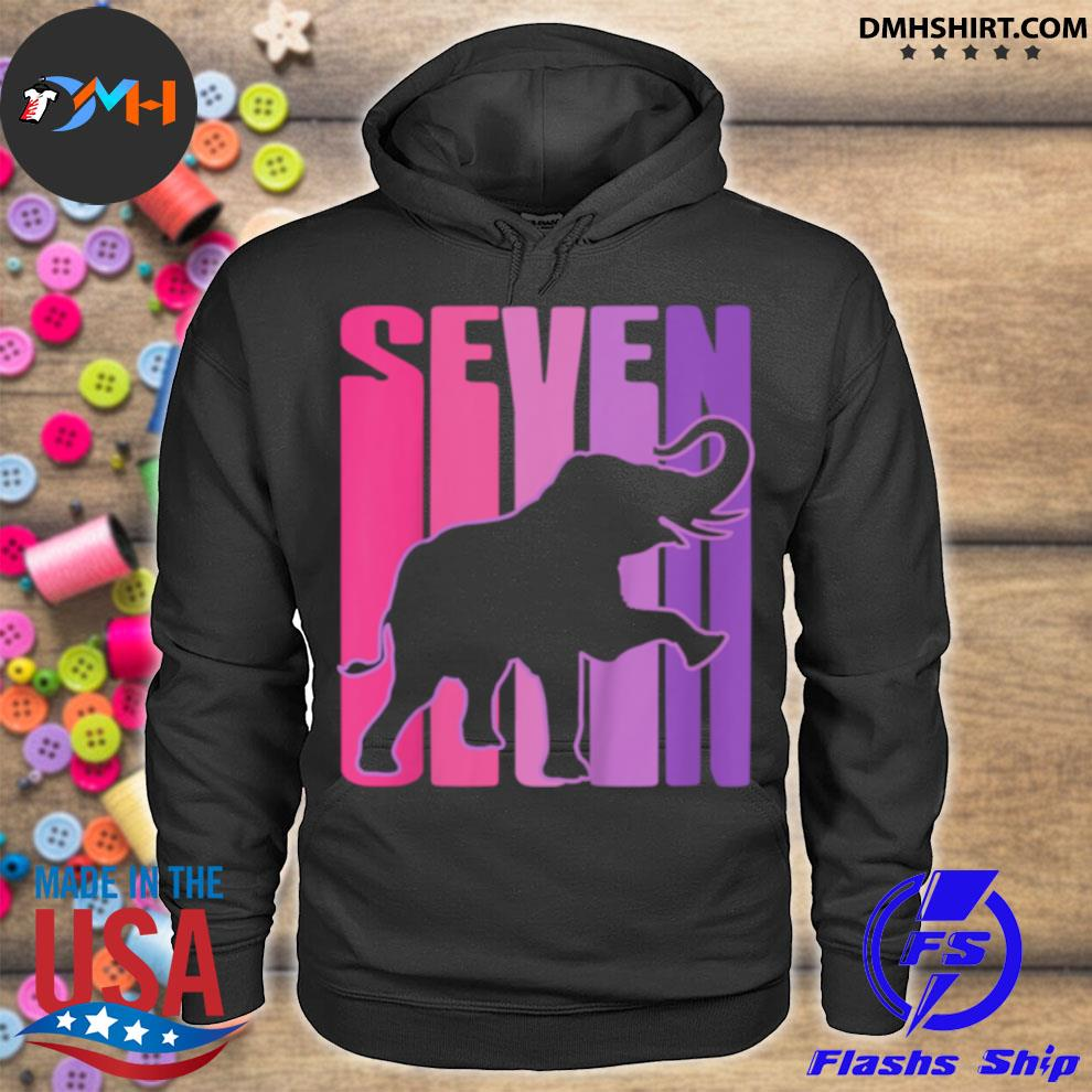 Official elephant i 7 years old hoodie