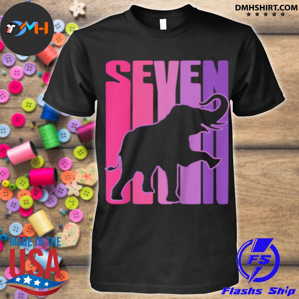 Official elephant i 7 years old shirt