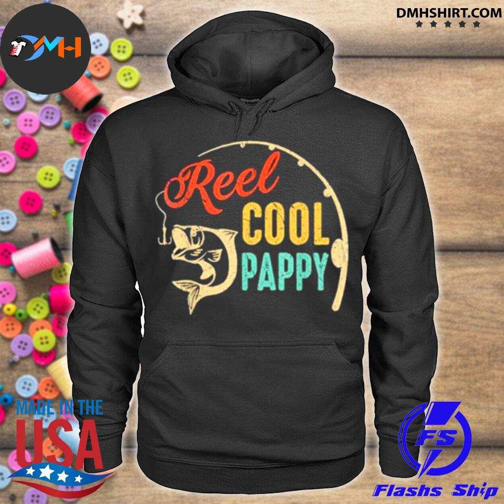 Official fathers day fishing reel cool pappy vintage hoodie