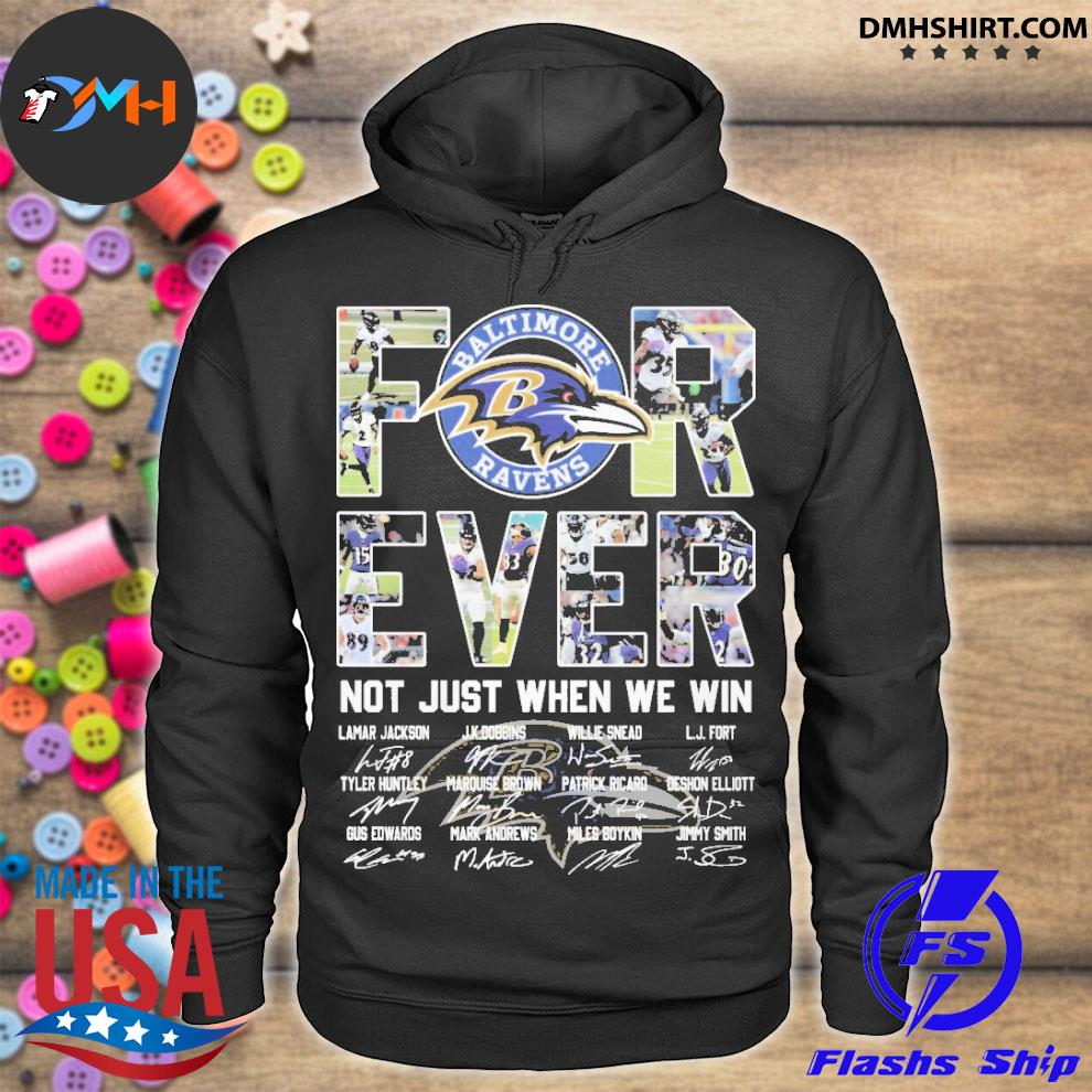 Official forever not just when we win hoodie