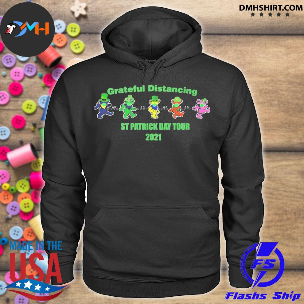 Official grateful distancing st patricks day tour 2021 hoodie