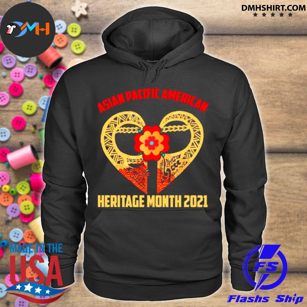 Official heart asian pacific american heritage month 2021 hoodie