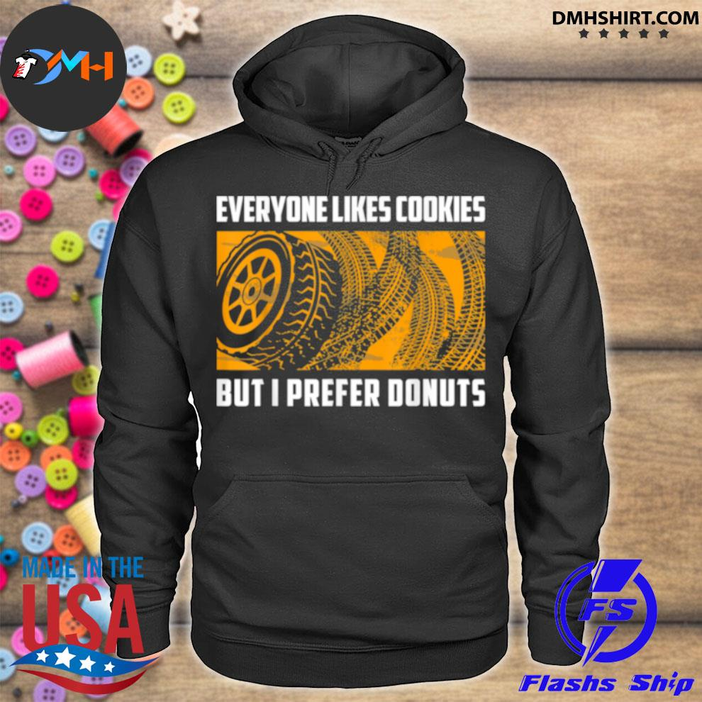 Official i prefer donuts racing racecar drift car enthusiast hoodie