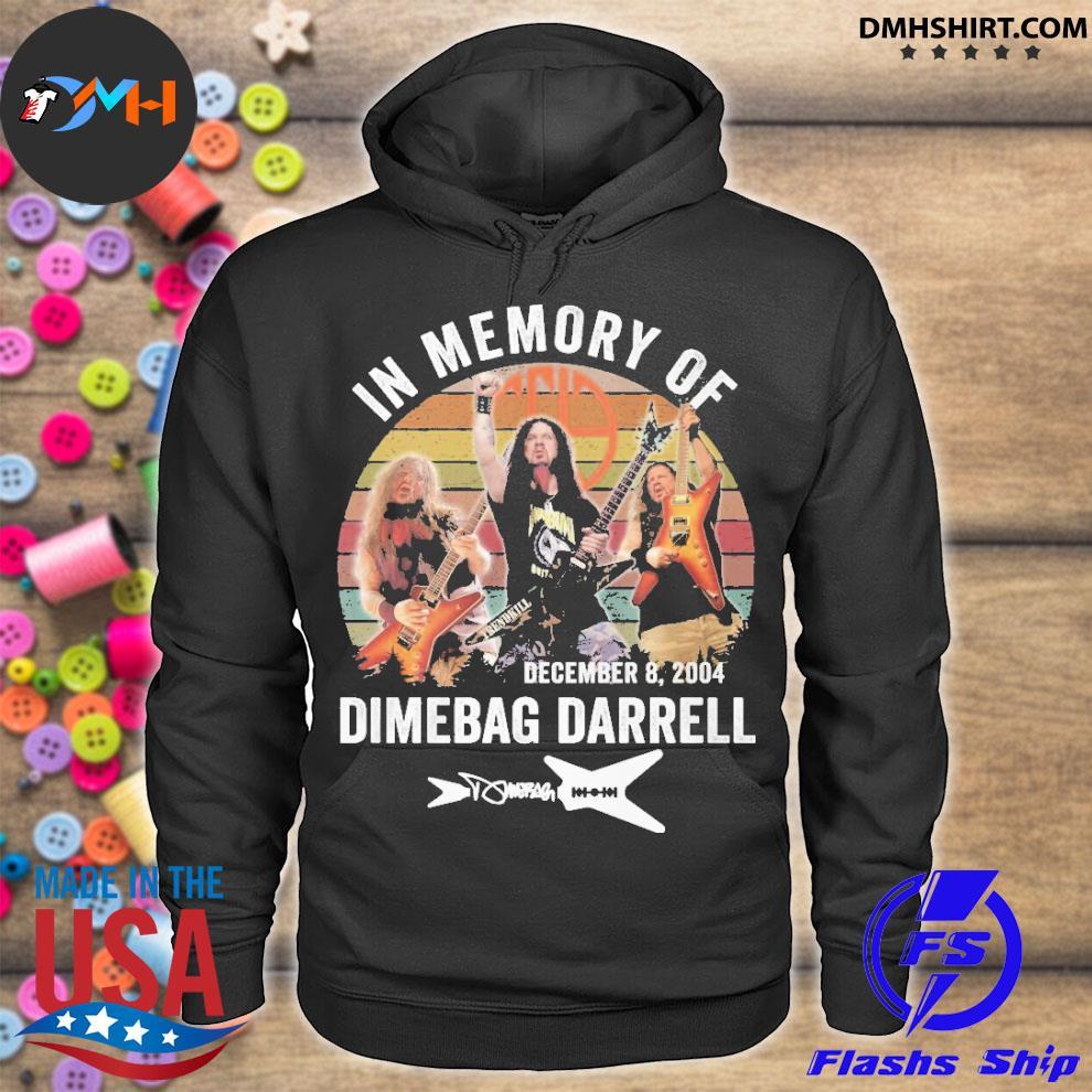 Official in memory of december 8 2004 dimebag darrell hoodie