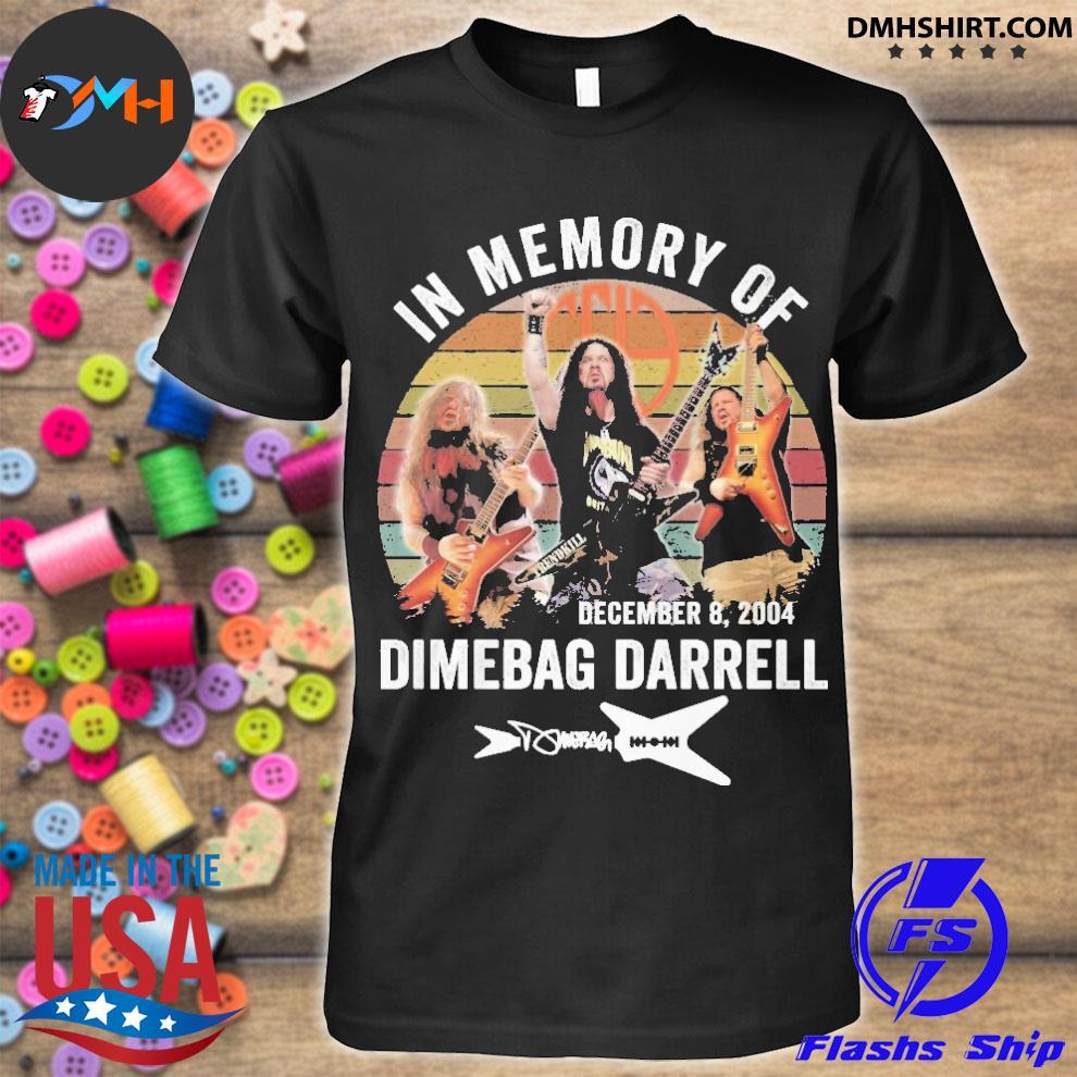 Official in memory of december 8 2004 dimebag darrell shirt