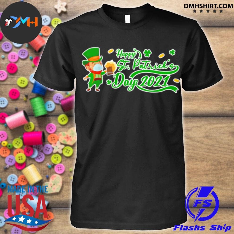 Official irish man face mask drink beer happy st patrick's day 2021 shirt