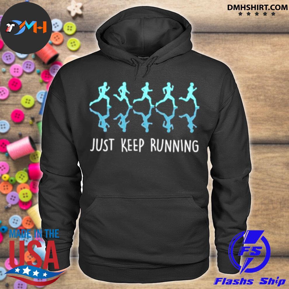 Official just keep running hoodie