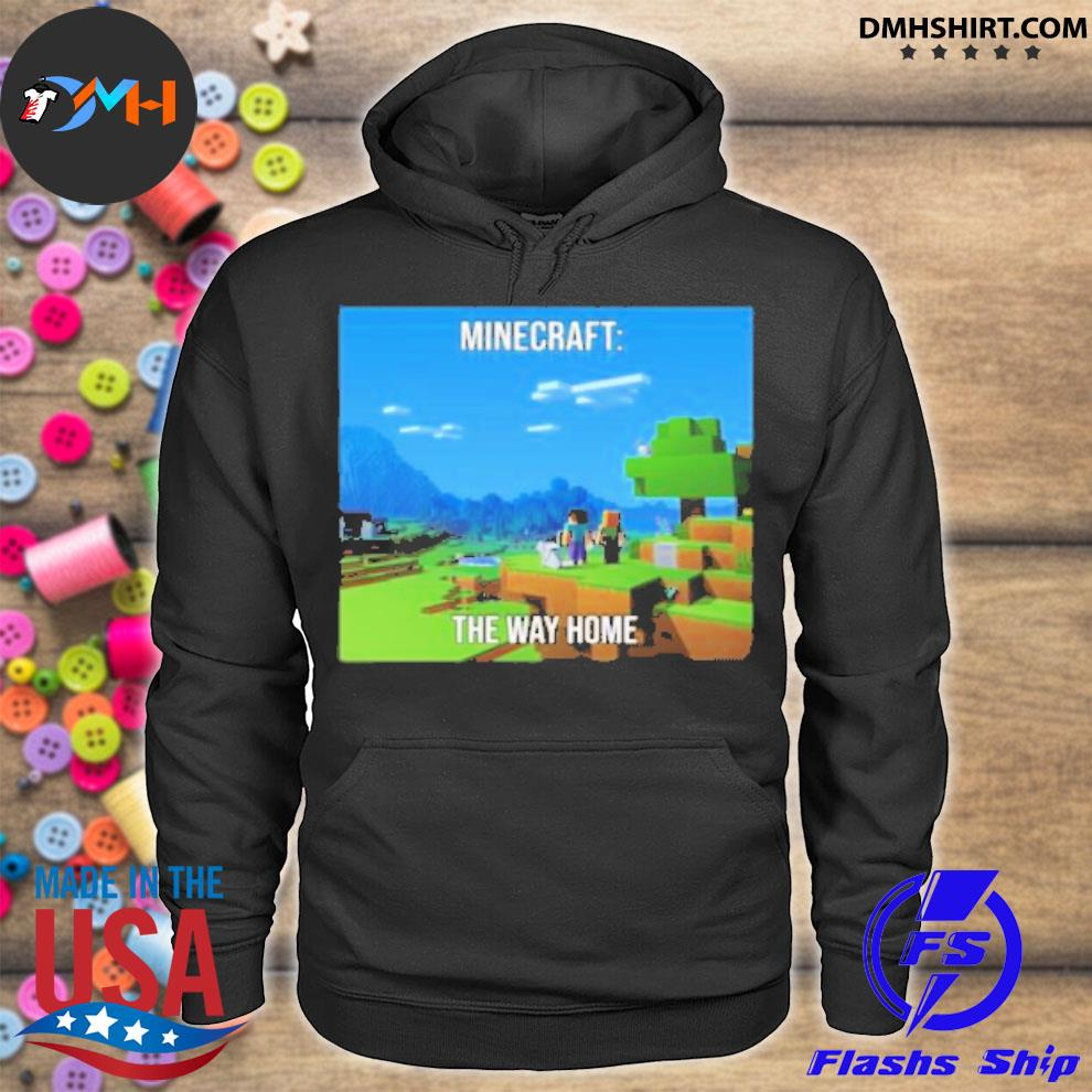 Official minecraft the way home hoodie