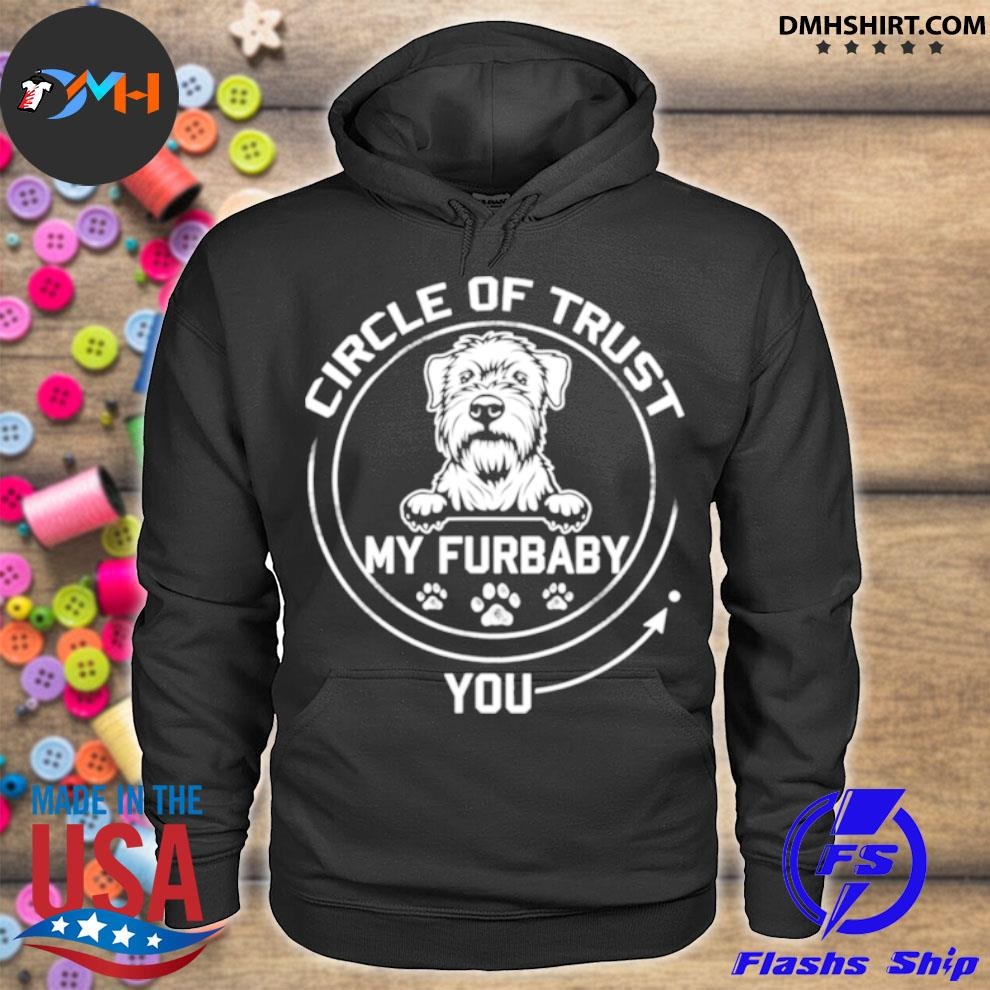 Official my furbaby circle of trust whippet dog lovers hoodie