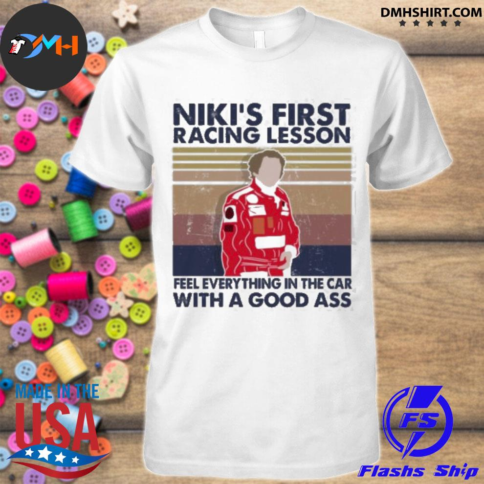 Official nikis first racing lesson feel every thing in the car with a good ass shirt
