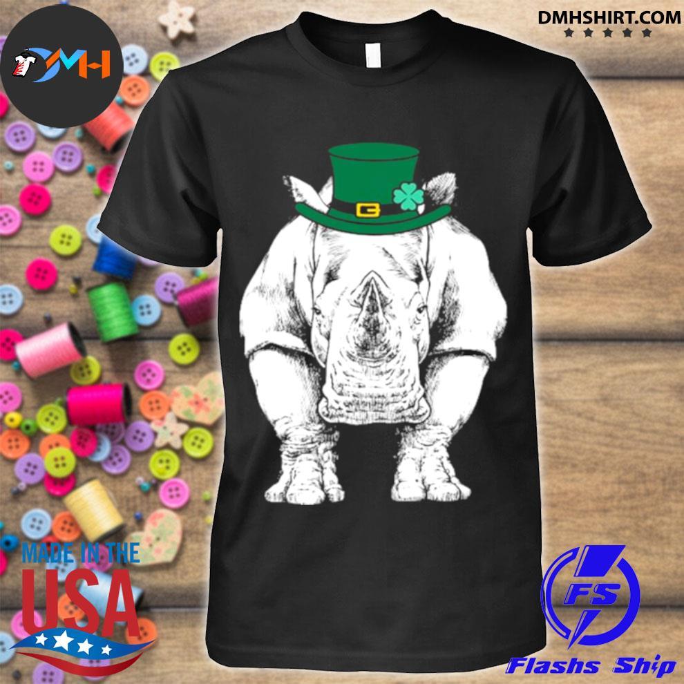 Official rhino st. Patrick's Day Safari Animal Lover shirt
