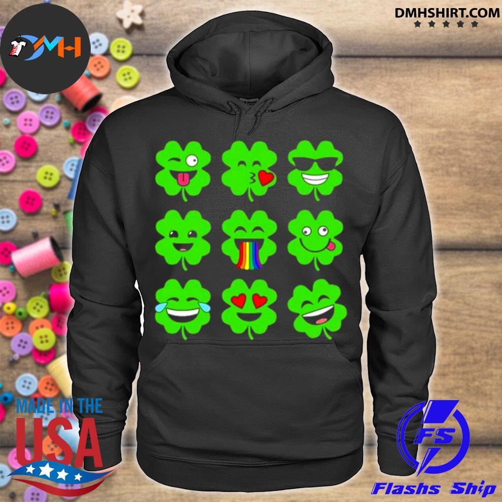 Official shamrock emoji funny st patrick's day hoodie