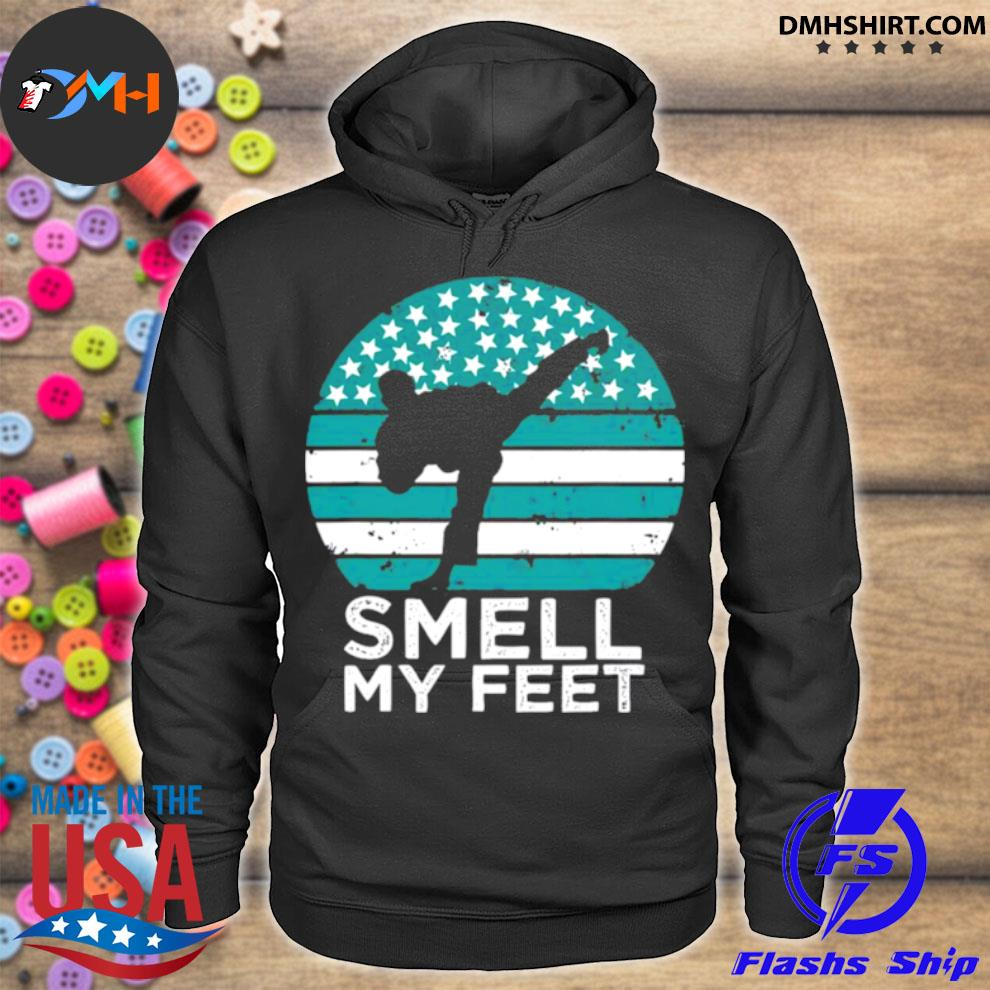Official smell my feet funny karate hoodie