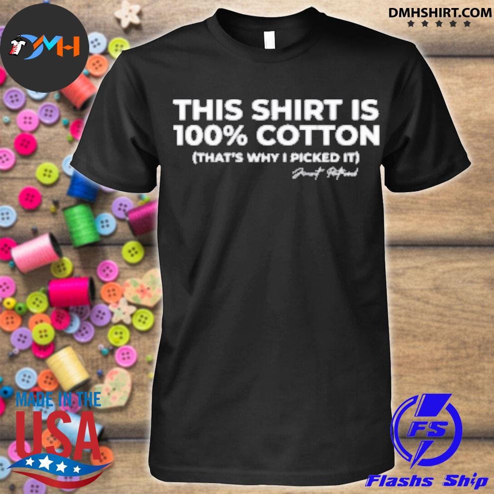 Official this shirt is 100% cotton that's why i picked it shirt