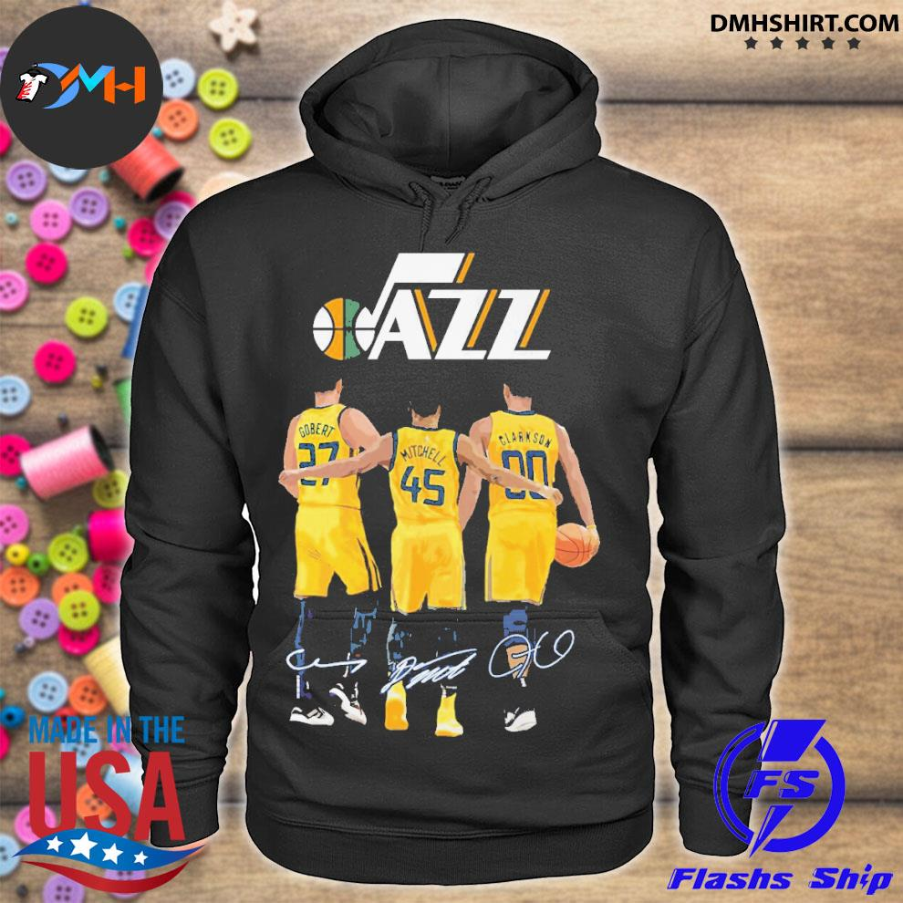 Official utah jazz gobert and mitchell and clarkson 2021 hoodie