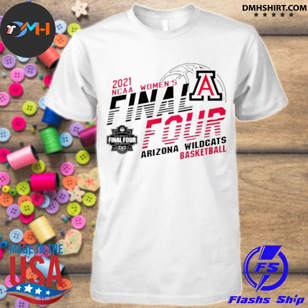2021 NCAA women's final four Arizona Wildcats basketball shirt