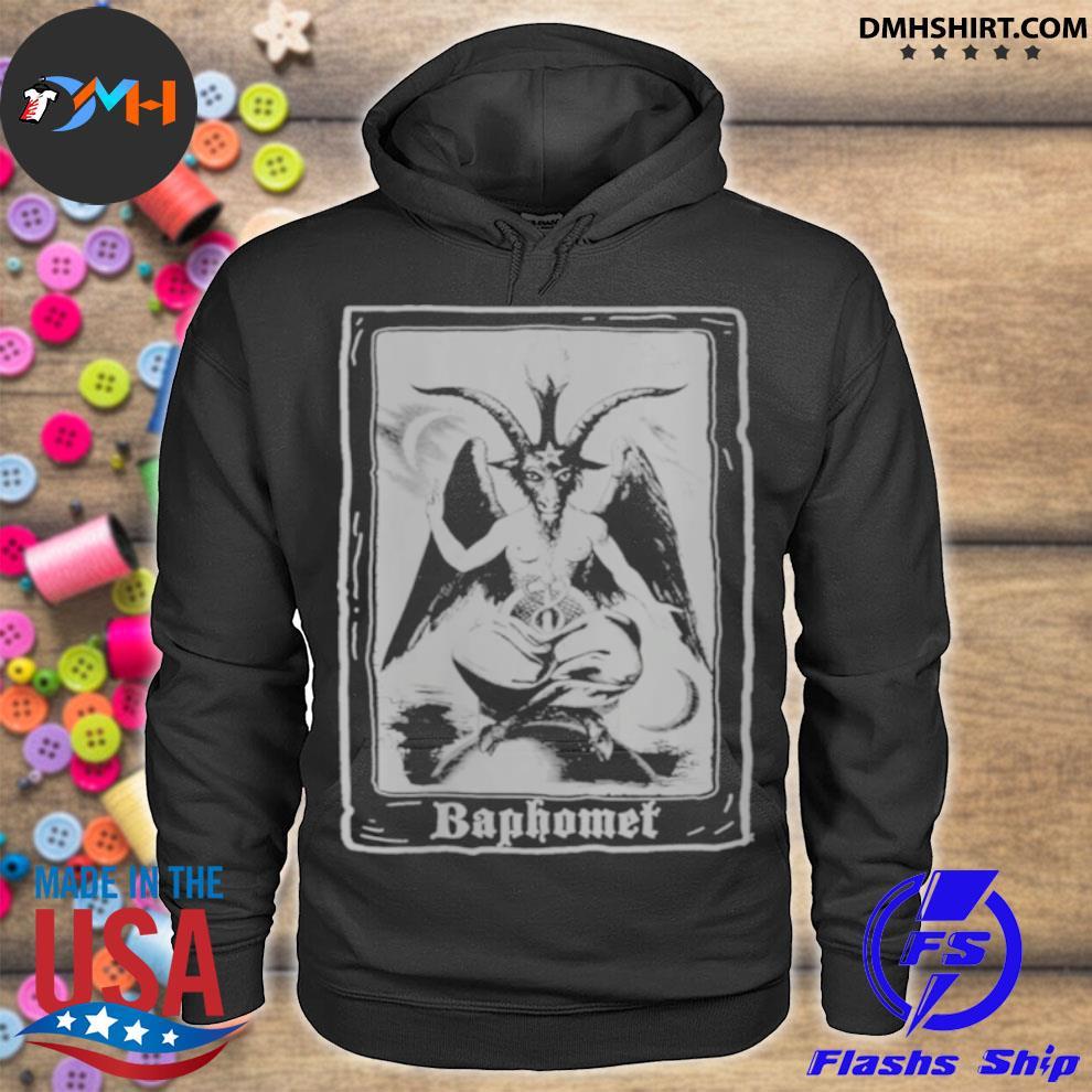 Baphomet Shirt Occult 666 Tarot Card Satanic Dark Art Evil hoodie