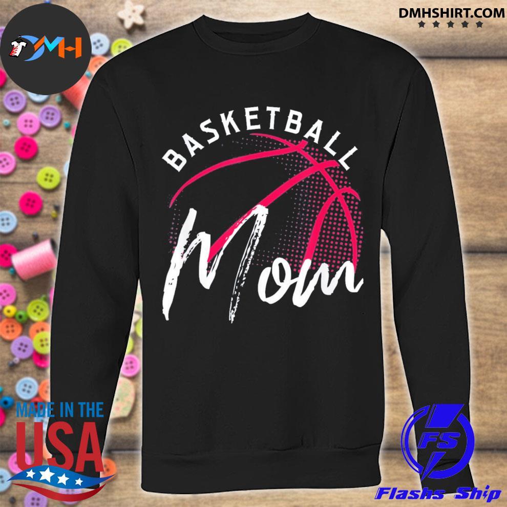 Glitter Basketball Mom Off the Shoulder Long Sleeve Sweatshirt Slashed or Solid Back S M L XL Plus Size 1x 2x 3x 4x 5x