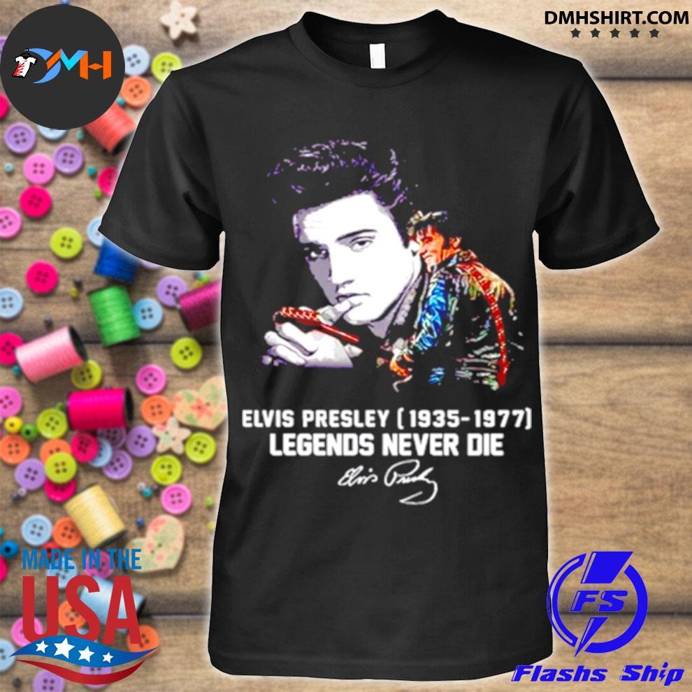 Elvis Presley 1935 1977 Legends Never Die Signatures Shirt