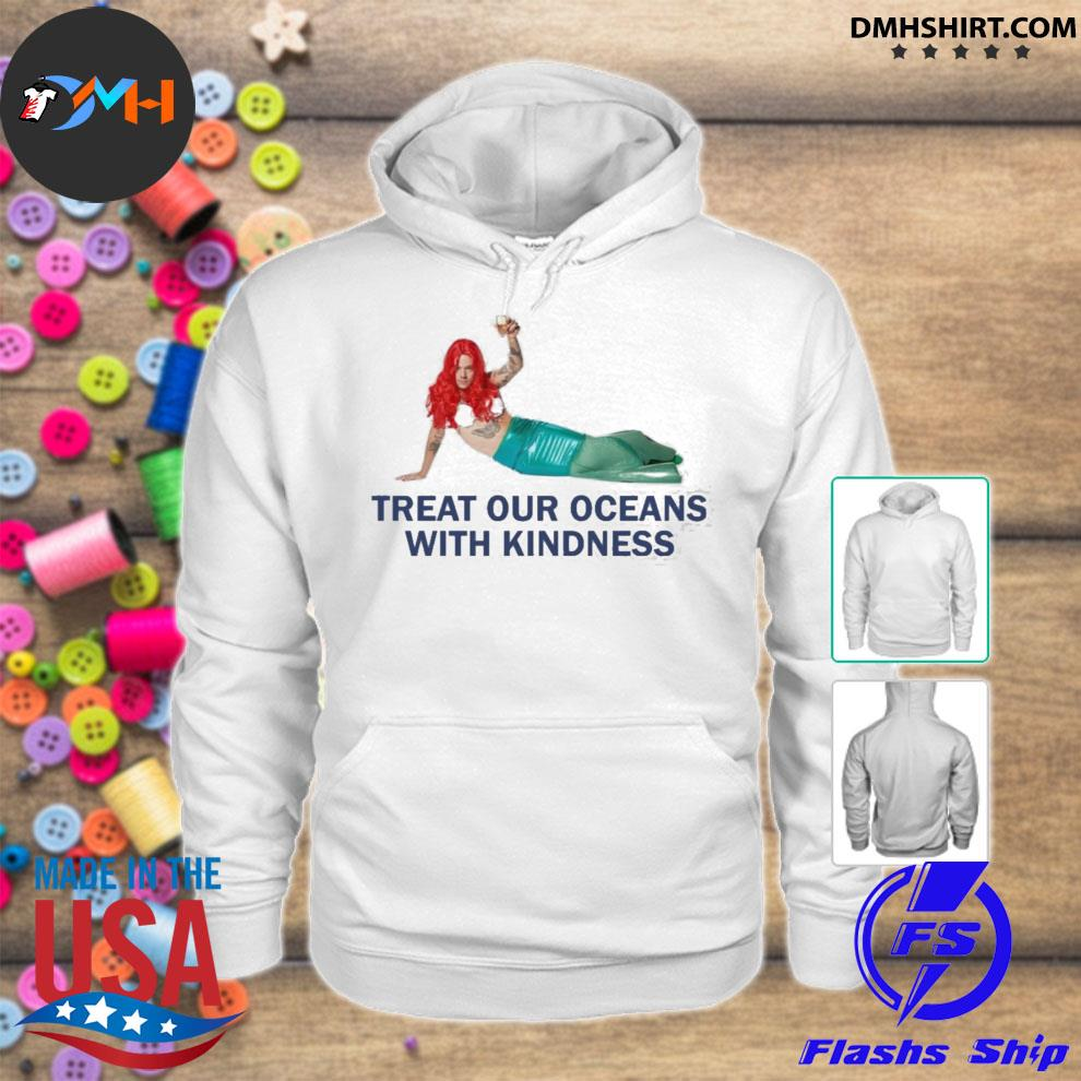 Harry styles mermaid treat our oceans with kindness hoodie
