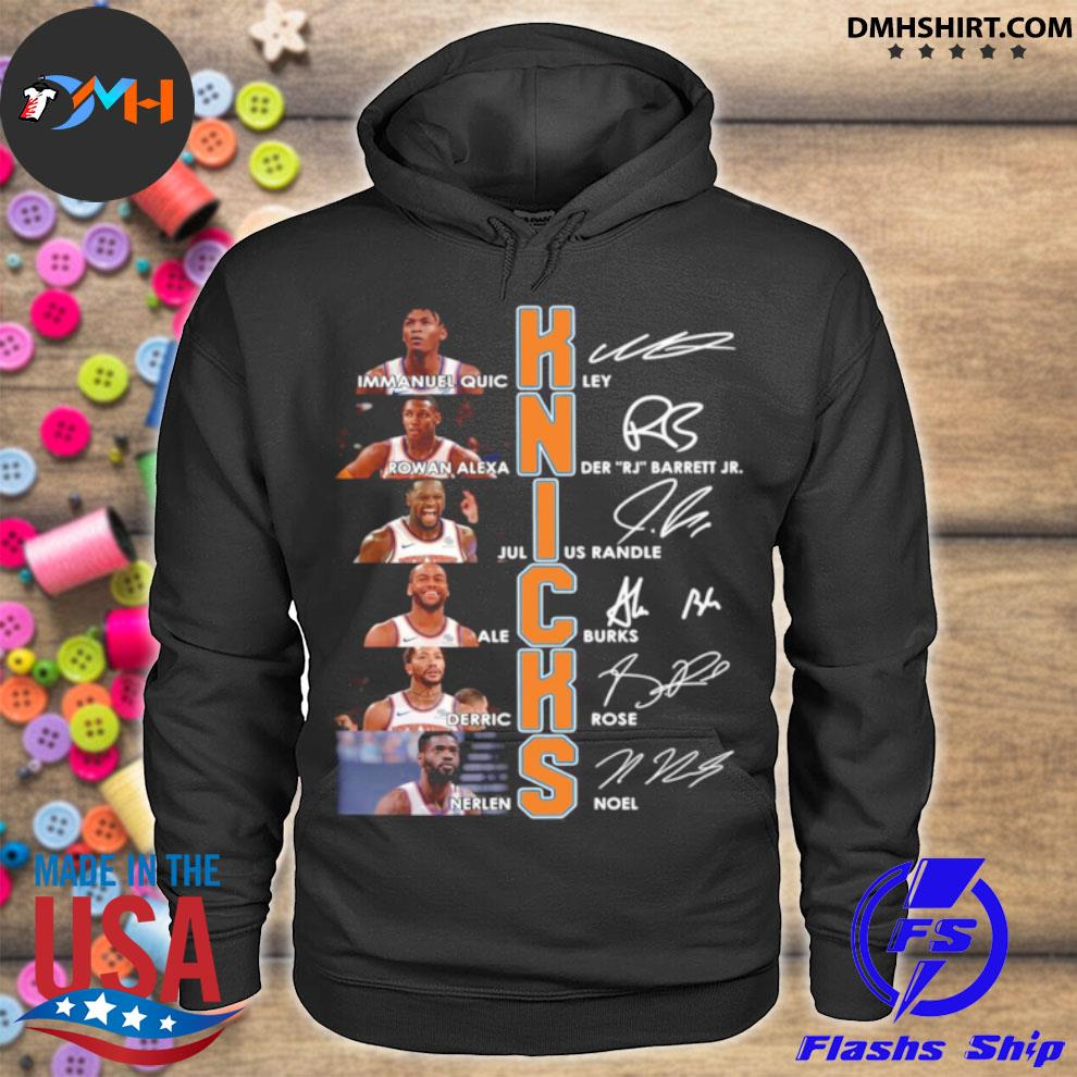 New York Knicks Team Players Signatures hoodie