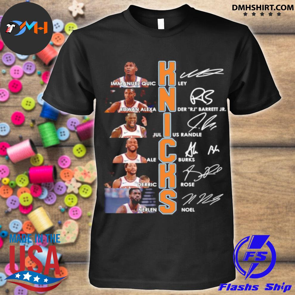 New York Knicks Team Players Signatures shirt