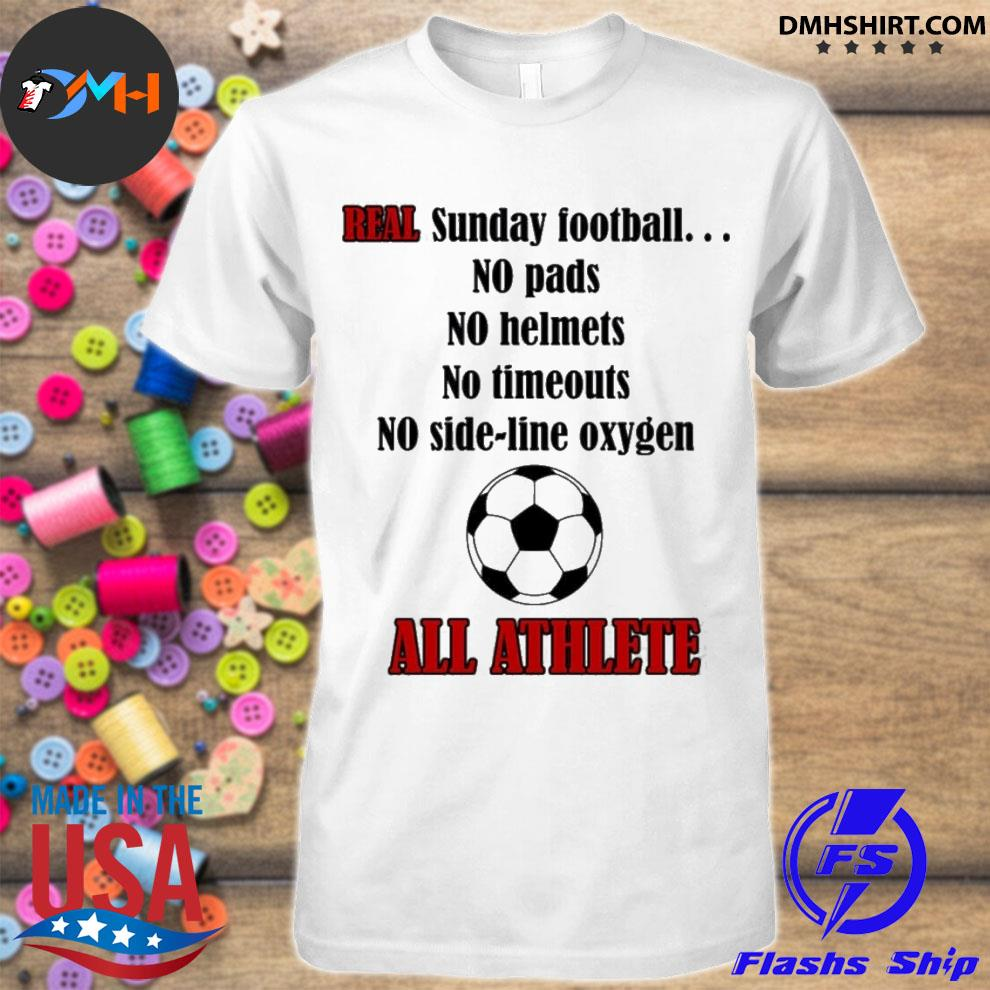 Official real sunday football no pads no helmets no timeout no side line oxygen shirt