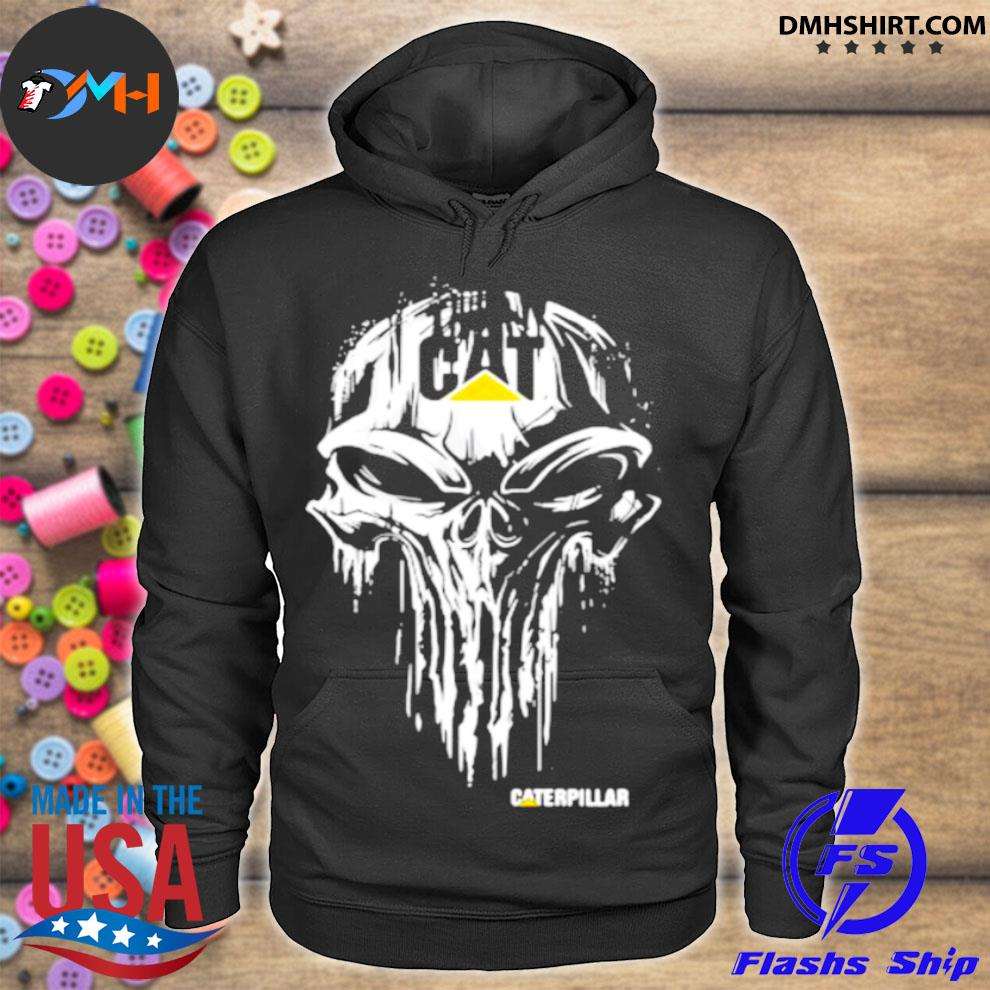 Punisher With Caterpillar Logo Shirt hoodie