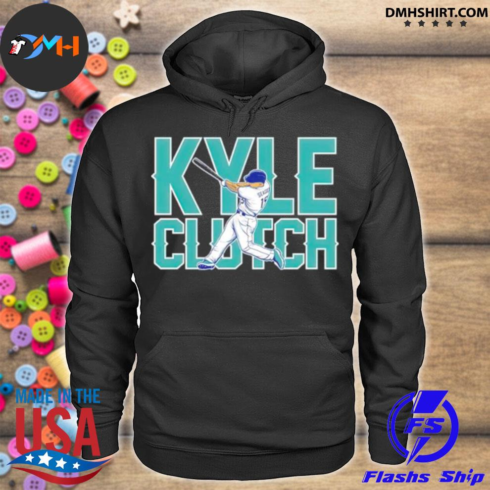 Seattle Mariners Kyle Seager playing hoodie