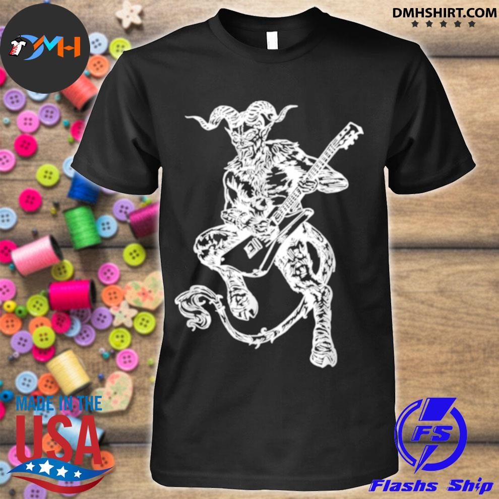 SEEMBO Devil Playing Guitar Guitarist Musician Music Band Shirt