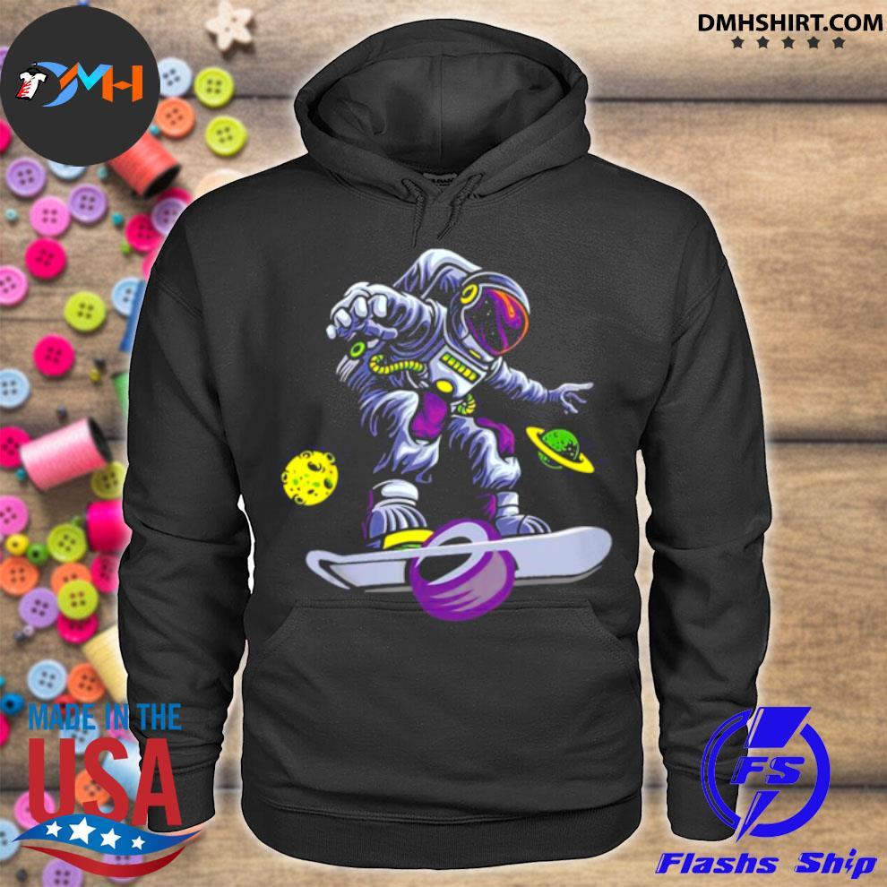 Skating Astronaut On Onewheel hoodie