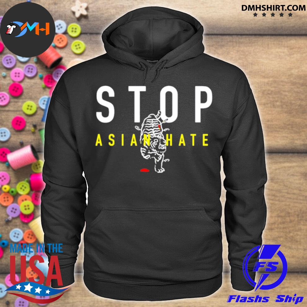 Stop Asian Hate – Bleeding Tiger hoodie