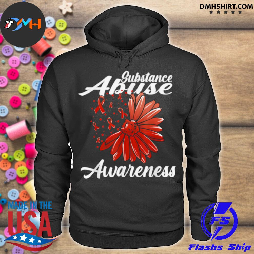 Substance Abuse Awareness Detox Related Red Ribbon hoodie