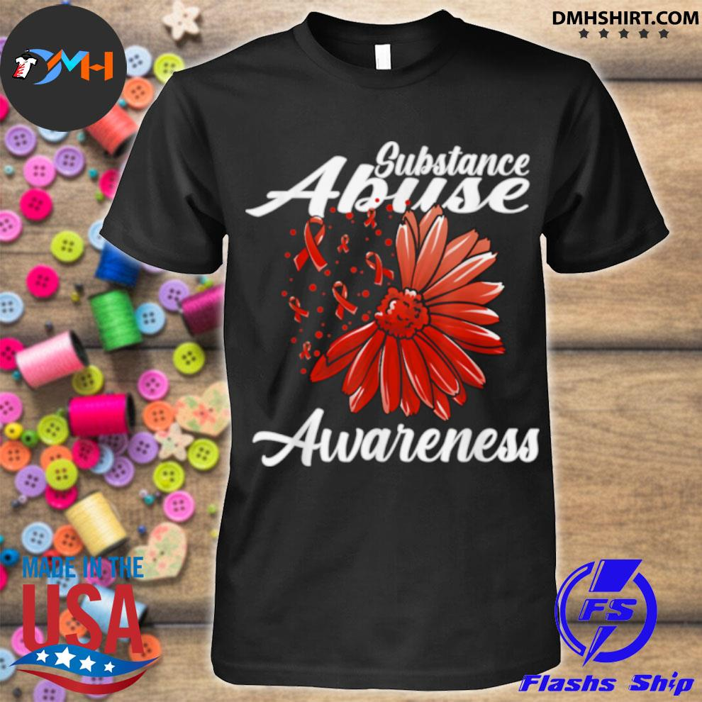 Substance Abuse Awareness Detox Related Red Ribbon shirt