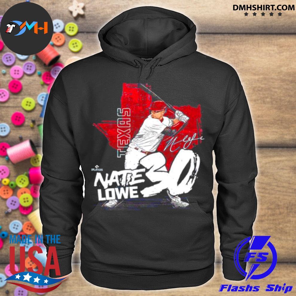 Texas Baseball Nate Lowe nate lowe signature hoodie