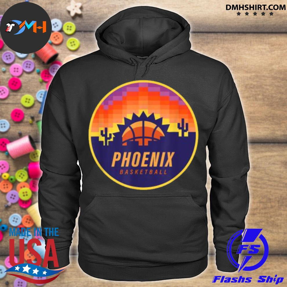 The Valley Pixel Sun Rise Phoenix Arizona Basketball Shirt hoodie