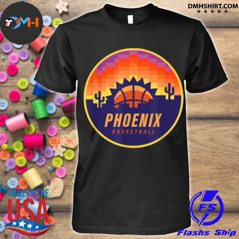 The Valley Pixel Sun Rise Phoenix Arizona Basketball Shirt