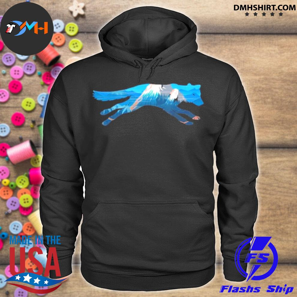Wolf Scenic Mountain Silhouette hoodie