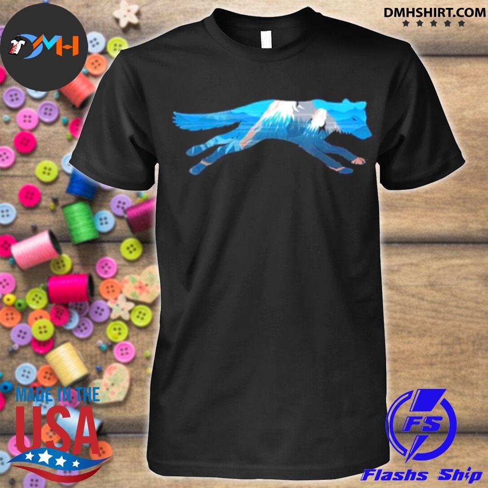 Wolf Scenic Mountain Silhouette shirt