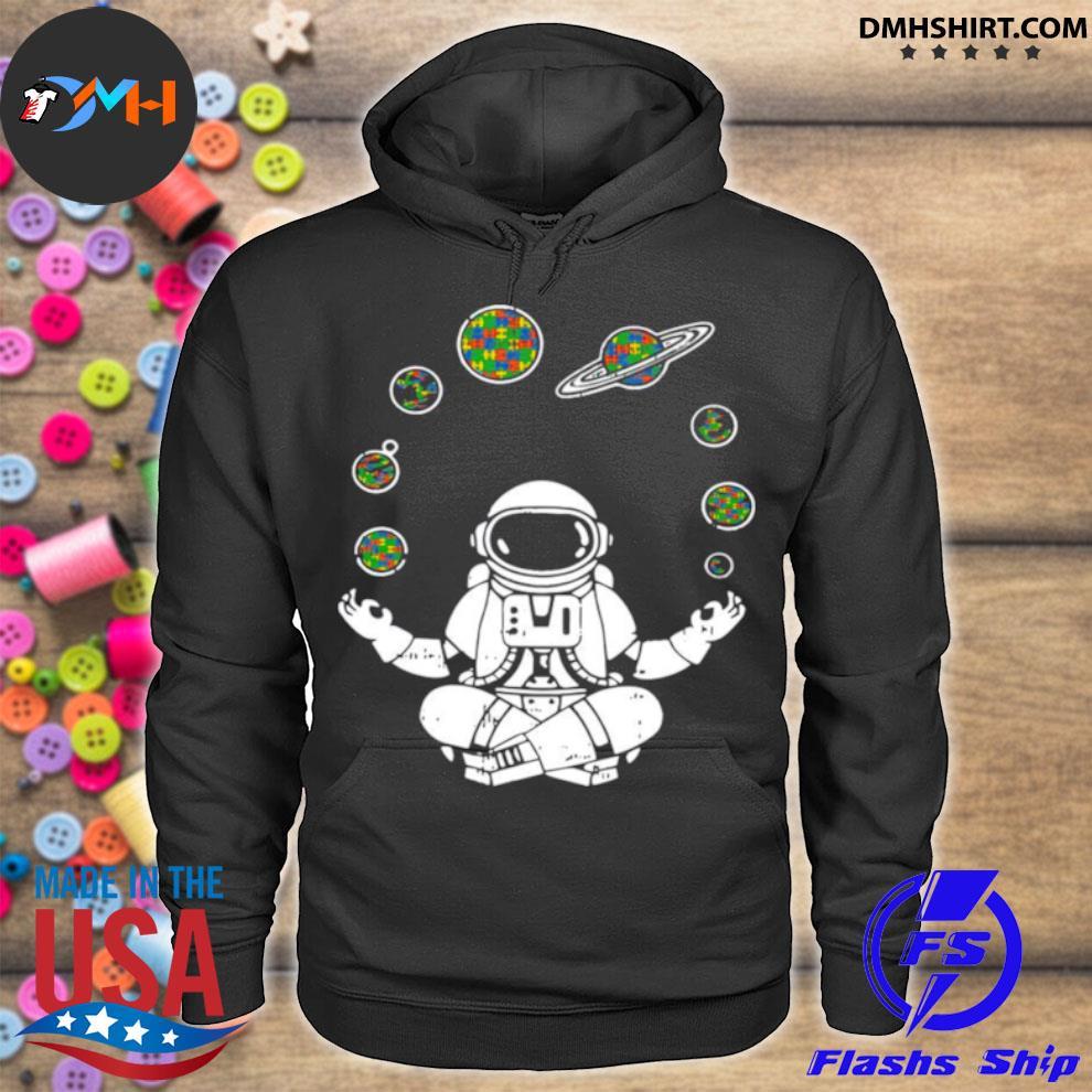 Yoga Astronaut Space Planets hoodie