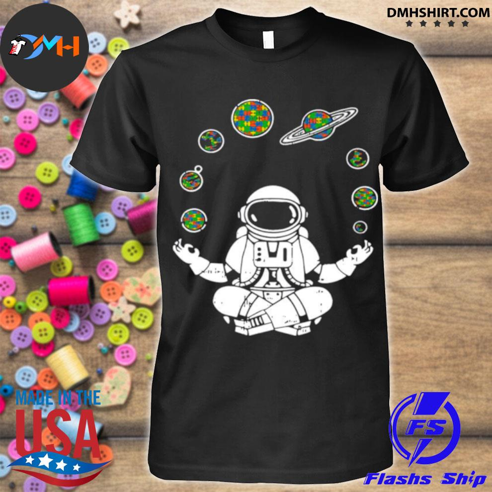 Yoga Astronaut Space Planets shirt