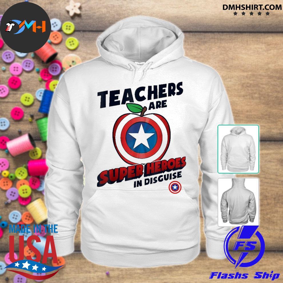 Captain America Apple teachers are superHeroes In disguise hoodie
