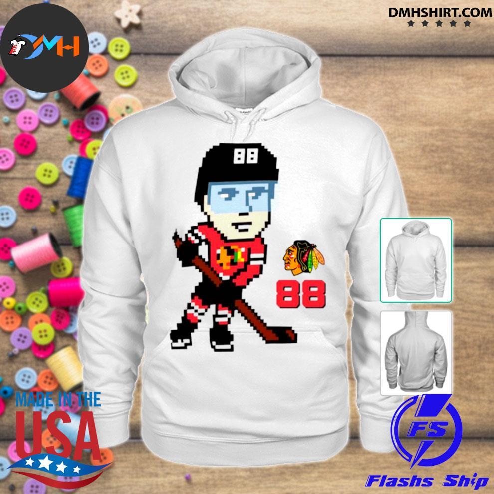 Chicago blackhawks pixel player patrick kane hoodie