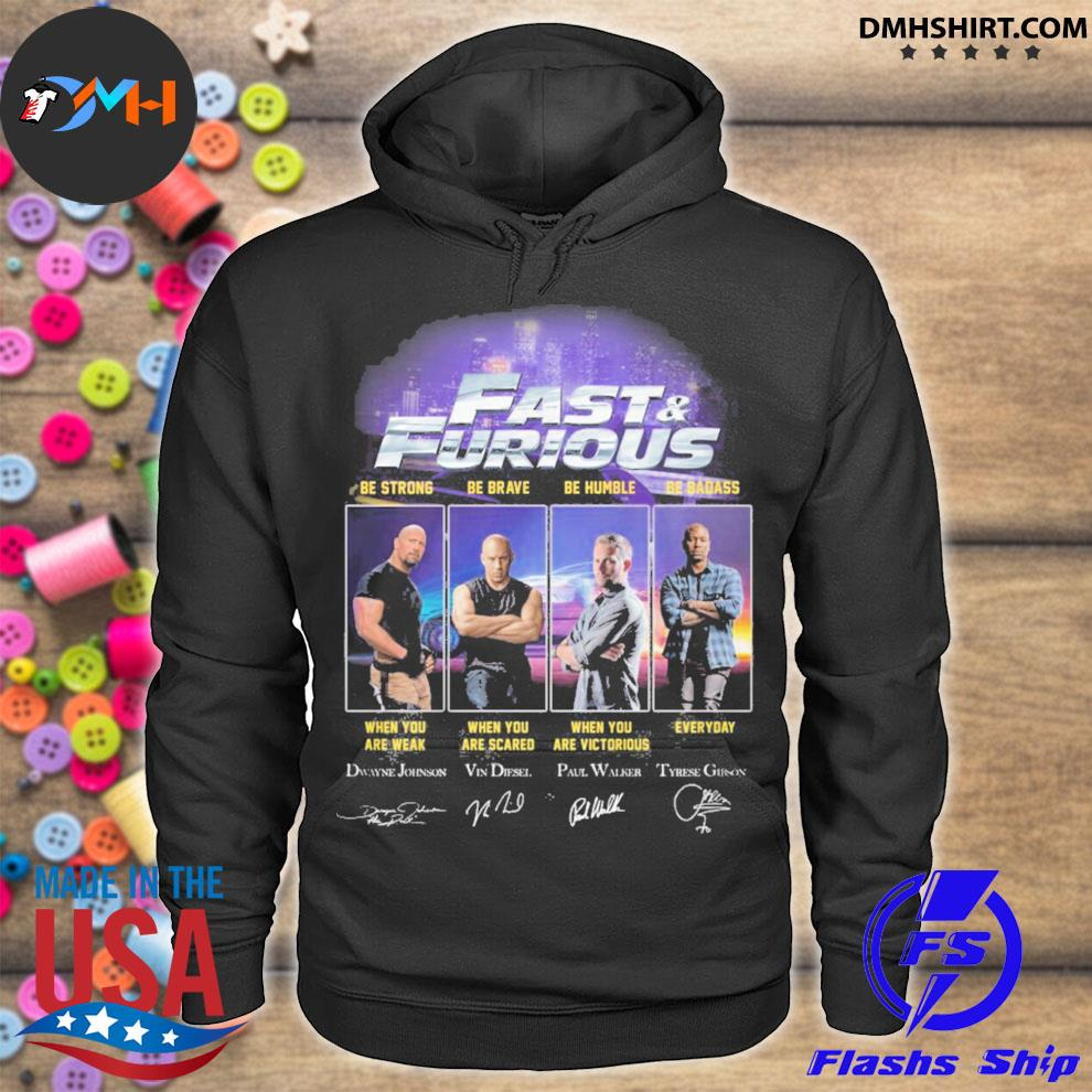 Fast and Furious character signatures hoodie